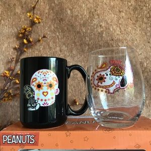 Day of the Dead Sugar Skull Halloween Snoopy Cups